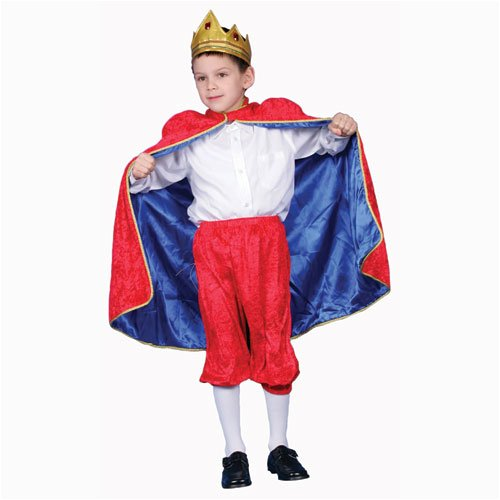 Deluxe Royal King Dress Up Costume Set - Red - Small 4-6