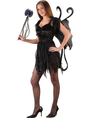 Midnight Fairy Black Teen Womens Costume