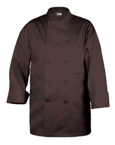 Chef Works CCBA-CHO Basic Chef Coat, Chocolate Brown, X-Small