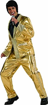 Elvis Now Grand Heritage Collection Deluxe Gold Lame Costume, Gold, Large