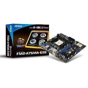 MSI FM2-A75MA-E35 AMD FM2 Micro ATX Motherboard (Socket FM2)