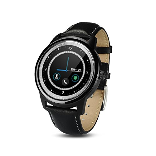EDEALYN DM365-Orologio Bluetooth Smart call wireless Full HD, schermo IPS, per IOS, Android, Iphone 6, colore: nero