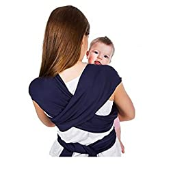 Magideal Newborn Baby Sling Breastfeeding Infant Stretchy Wrap Carrie Blue