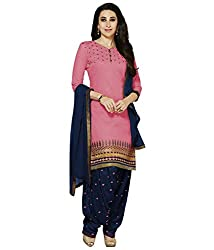 Shree Khodal Women's Pink Cotton Dress Material [SK_JCN1041_E]