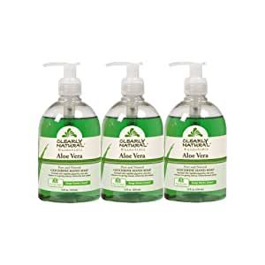 Clearly Natural Liquid Hand Soap, Aloe Vera, 12 Fluid Ounce, 3 Count