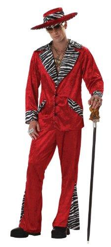 California Costumes Men's Pimp,Red,X-Large Costume