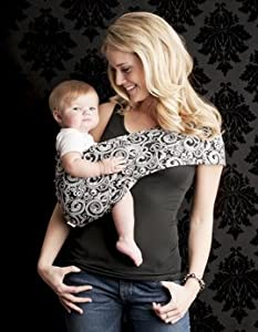 Seven Everyday Slings Baby Carrier Sling Color Black/White Indy Size 4/Medium