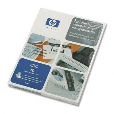 Laser jet monochrome transparency film, 8-1/2 x 11, 50 sheets/box - Buy Laser jet monochrome transparency film, 8-1/2 x 11, 50 sheets/box - Purchase Laser jet monochrome transparency film, 8-1/2 x 11, 50 sheets/box (Hewlett-Packard, Office Products, Categories, Office & School Supplies, Presentation Supplies, Transparency Film)