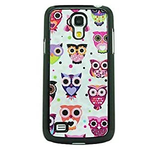 Owl Family Leather Vein Pattern Hard Case for Samsung Galaxy S4 Mini I9190
