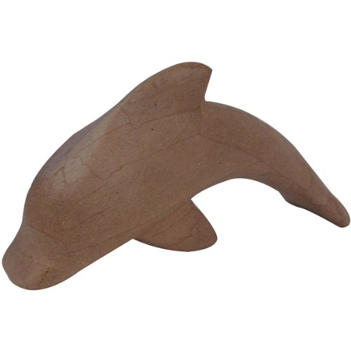"Paper Mache Figurine 4.5""-Dolphin"