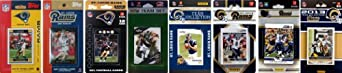 NFL St. Louis Rams 8 Different Licensed Trading Card Team Sets by C&I Collectables