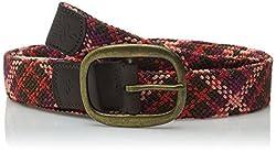prAna Women's Rhodes Belt, X-Small/Small, Plum Red