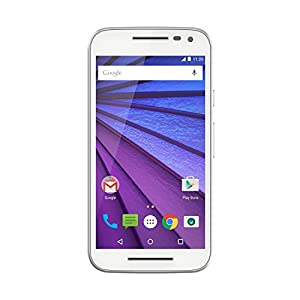 Motorola Moto G - 3ème Génération - Smartphone Débloqué 4G (Ecran: 5 pouces - 16 Go - 2 Go RAM - Simple Micro-SIM - Android 6.0 Marshmallow) - Blanc