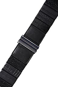 Yoursclothing Womens Textured Snake Skin Pattern Detail Elasticated Waist Belt