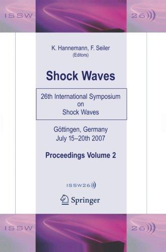 Shock Waves: 26th International Symposium on Shock Waves