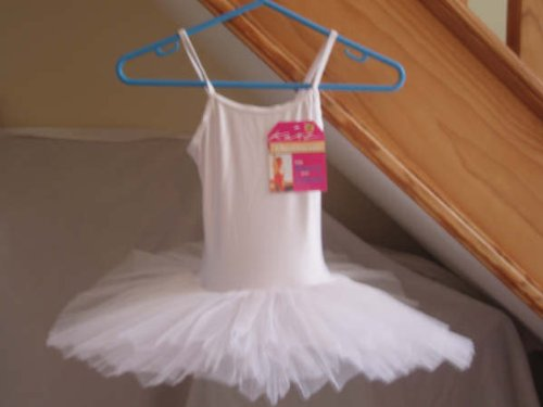 White leotard tutu fairy ballet dance dress girls age 5-6 Years by Katz Dancewear