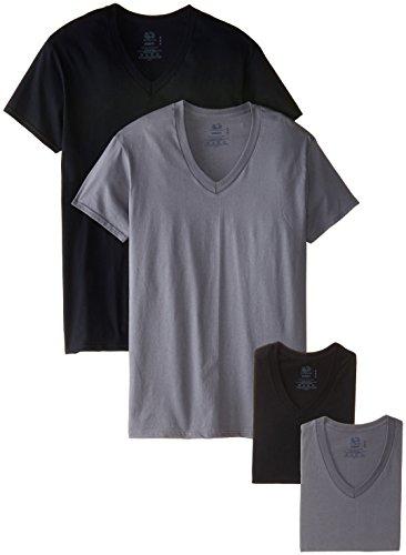 Fruit of the Loom Men's Four-Pack V-Neck T-Shirt
