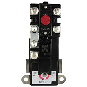 rheem uv11699 therm o disc upper thermostat, electric ... electric water heater upper thermostat wiring