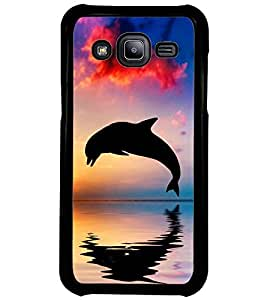 Printvisa Dolphin Diving At Sunset Back Case Cover for Samsung Galaxy J2::Samsung Galaxy J2 J200F