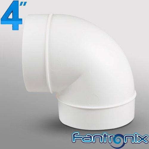 Fantronix - Raccordo da 100 mm, in plastica, sezione tonda, per sistemi di ventilazione domestici, in PVC