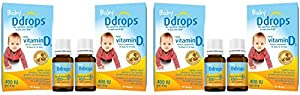 Ddrops 400 IU Dietary Supplement for Infant, 0.32 Fluid Ounce 4 Pack