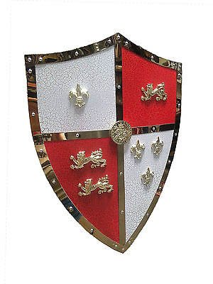 """24"""" Medieval Royal Crusader Lion Shield Armor With Handle"""