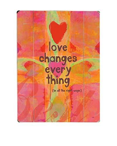 ArteHouse Love Changes Wood Wall Décor x