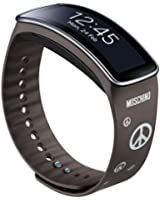 Samsung ETSR350RGRAYSILVER Bracelet pour Samsung Galaxy Gear Fit Mocha Gray/Silver Peace