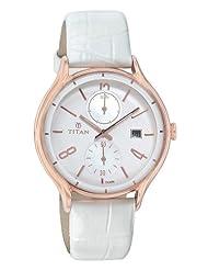 Titan White Dial Analogue Women's Watch 9964WL01