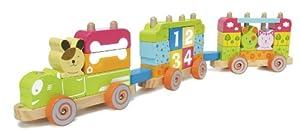 House of Toys 450357 - Tren de madera, 45 piezas marca House Of Toys - BebeHogar.com
