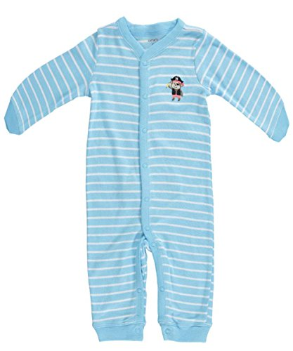 Carter's Baby Boys' Striped Romper (Baby) - Pirate