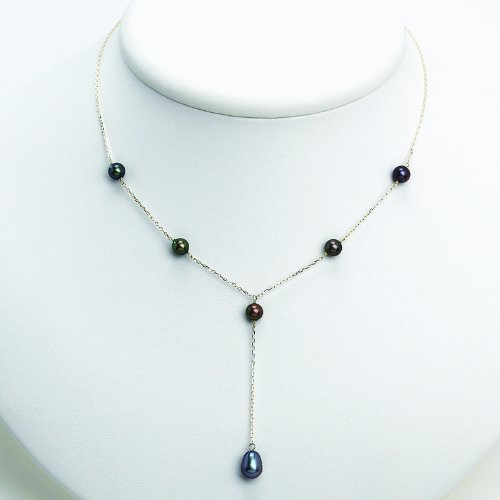 Silver Peacock Cultured Pearl Necklace. Metal Weight- 2.25g. 16in long Chain.