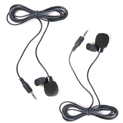 Hde 2 Pack Hands Free 3.5Mm Clip-On Mini Lapel Computer Microphone