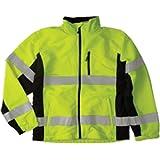 ML Kishigo Polyester Black Series Windbreaker High-Viz Jacket with Adjustable Cuffs, Lime