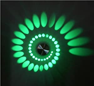AC85v ~ 265v ,3W Artistic Modern Led Wall Light with Scattering Light Design Whirlpool Shadow Stretching --gree