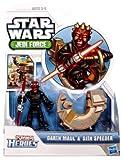 Star Wars 2012 Playskool Jedi Force Mini Figure 2 Pack - Darth Maul & Sith Speeder