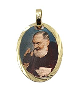 Padre Pio Medalla - Father Pio Medal 14k Gold Plated Medal ...