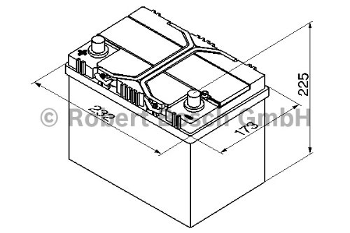 bosch s3 autobatterie s3 002 12v 45ah 400a 545 autoteile. Black Bedroom Furniture Sets. Home Design Ideas