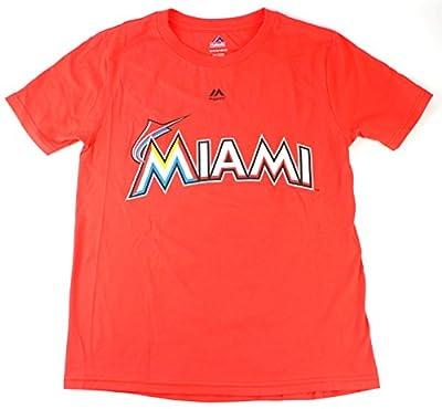 Jose Fernandez Miami Marlins #16 MLB Youth Name & Number T-Shirt Orange