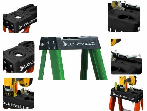 Louisville Ladder FS4004 225-Pound Duty Rating Fiberglass Step Ladder, 4-Foot