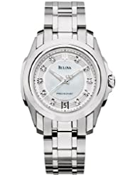 Bulova Women's 96P115 Precisionist Longwood Diamond MOP Dial Steel Bracelet Watch