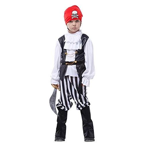 Children Boys Pirate Costume Outfit Buccaneer Fancy Dress