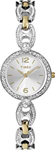 Timex Women's T2P2679J Crystal Two-Tone Open Link Bracelet Watch
