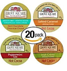 20-count Single Serve Brewer Cups for Keurig Brewers Martinson's Flavored Coffee Variety Pack Featuring Caramel Creme, Hazelnut, Irish Cream, Mint 'n Mocha, and Tiramisu Twist Cups by Martinson's