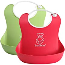 BabyBjorn Soft Bib 2 Pack - Green/Red