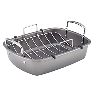 Circulon 56539 Nonstick Bakeware Roaster with Metal Rack, 17-by-13-Inch by Circulon