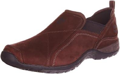 (推荐)天木兰Timberland男士缓震舒适真皮休闲鞋Country Slip-On 棕 $62.99