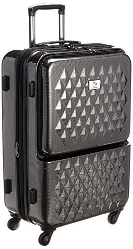 [アーノルドパーマー] ARNOLD PALMER スーツケース フロントオープンキャリーケース最大72L 33021 BKC (ブラックカーボン)