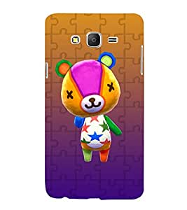 printtech Teddy Cute Back Case Cover for Samsung Galaxy On7