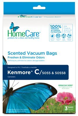 "Home Care F65224 ""Febreze"" Kenmore C Premium Allergen Canister Vacuum Cleaner Bags Fits Models 50558, 5055, 50557"